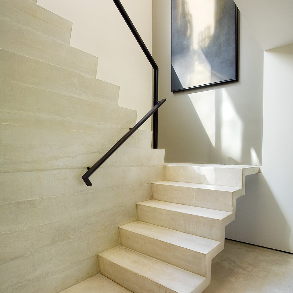 Modern staircase in Battery Park residence