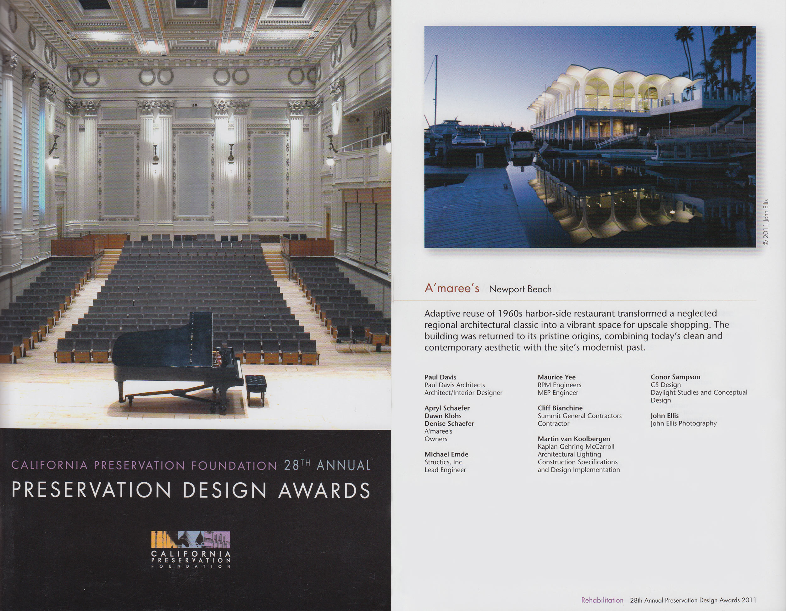 2011 Preservation Design Award for Historic Preservation
