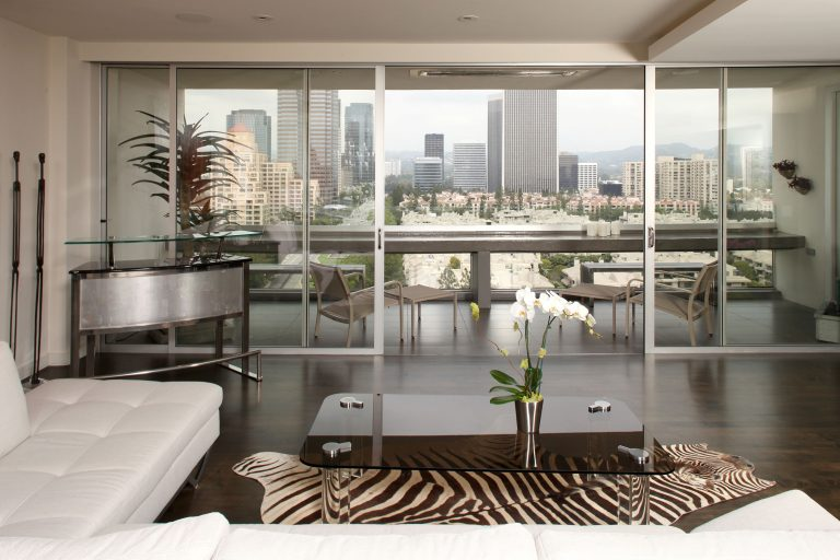 Gorgeous interior remodel with striking skyline views of Los Angeles, CA in Century Towers