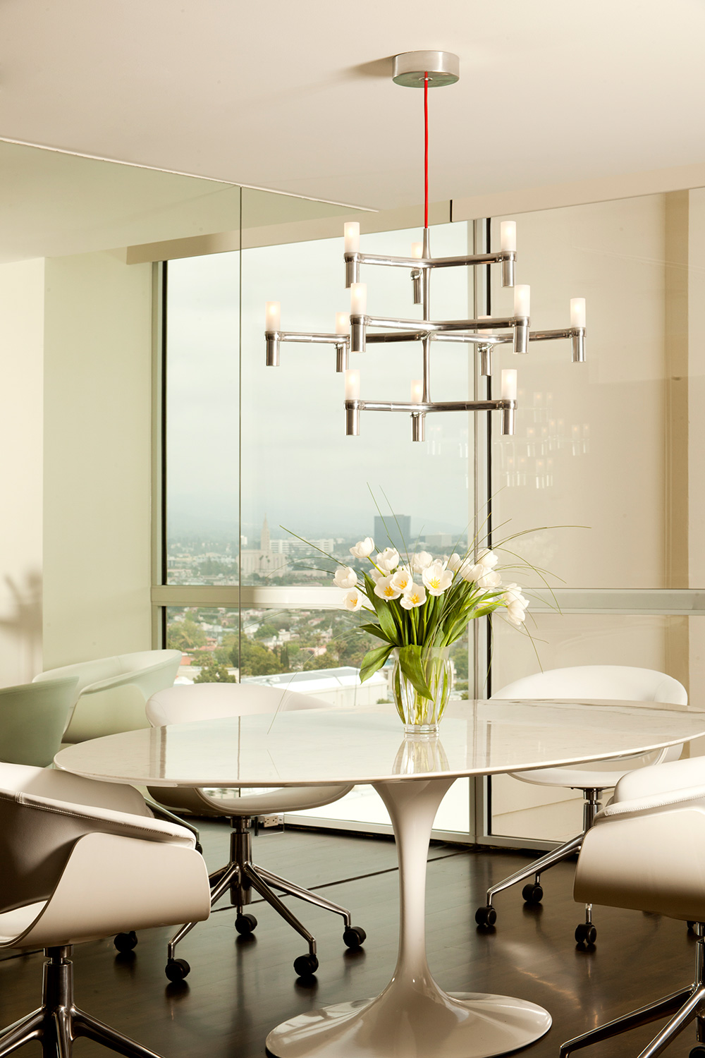 Elegance meets warmth in this Century Towers interior remodel in Los Angeles, CA