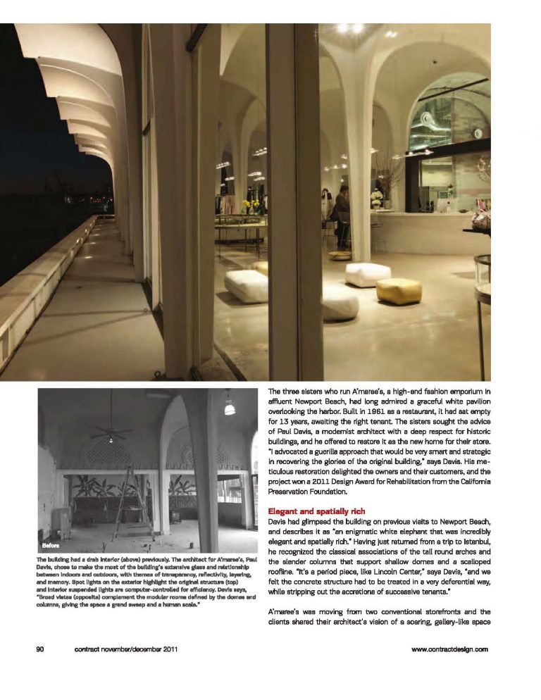 A'maree's fashion boutique featured in Contract Magazine