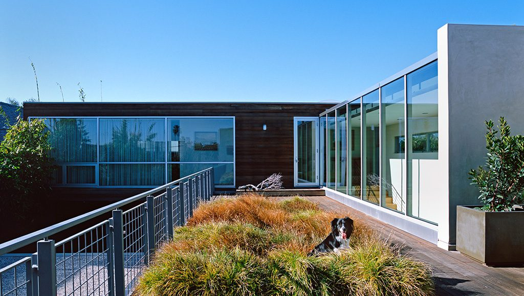 Grass deck perfect for relaxing