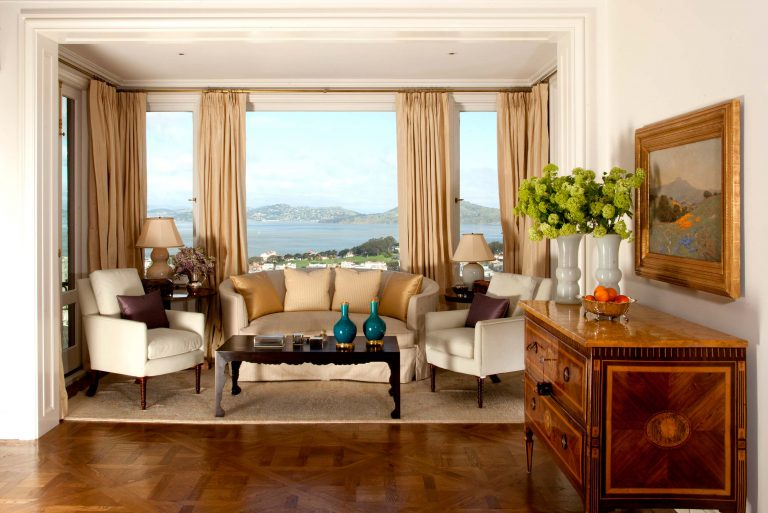 Hilltop renovation in San Francisco's Pacific Heights neighorhood features stunning views of the Bay