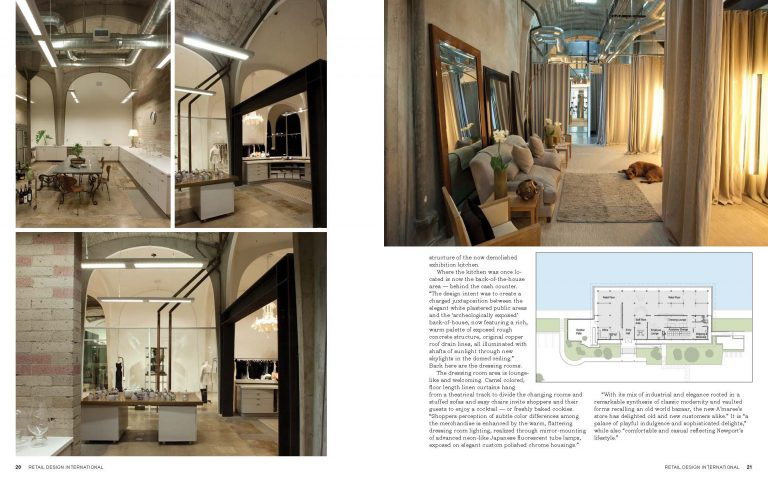 A'maree's fashion boutique featured in Retail Design Interational Magazine