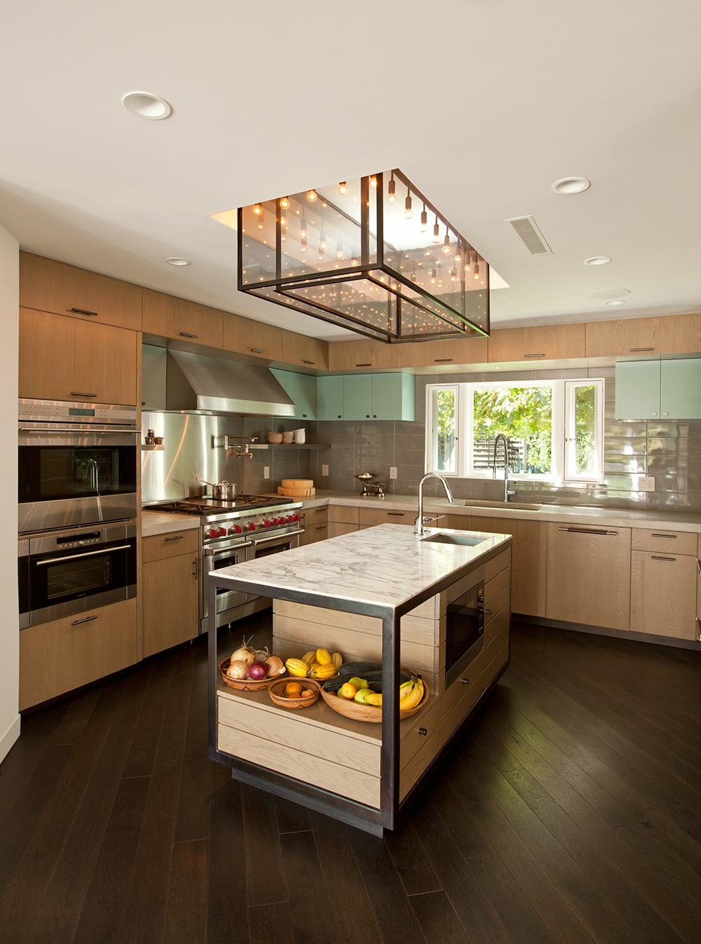 A modern kitchen for a stunning new residence in CA
