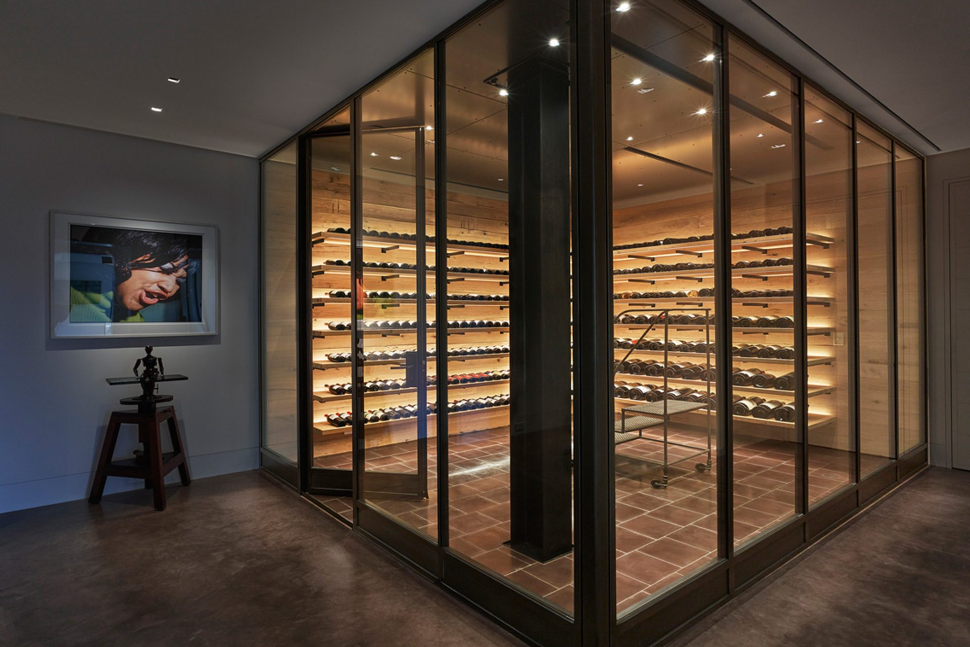 Gorgeous custom-built wine room