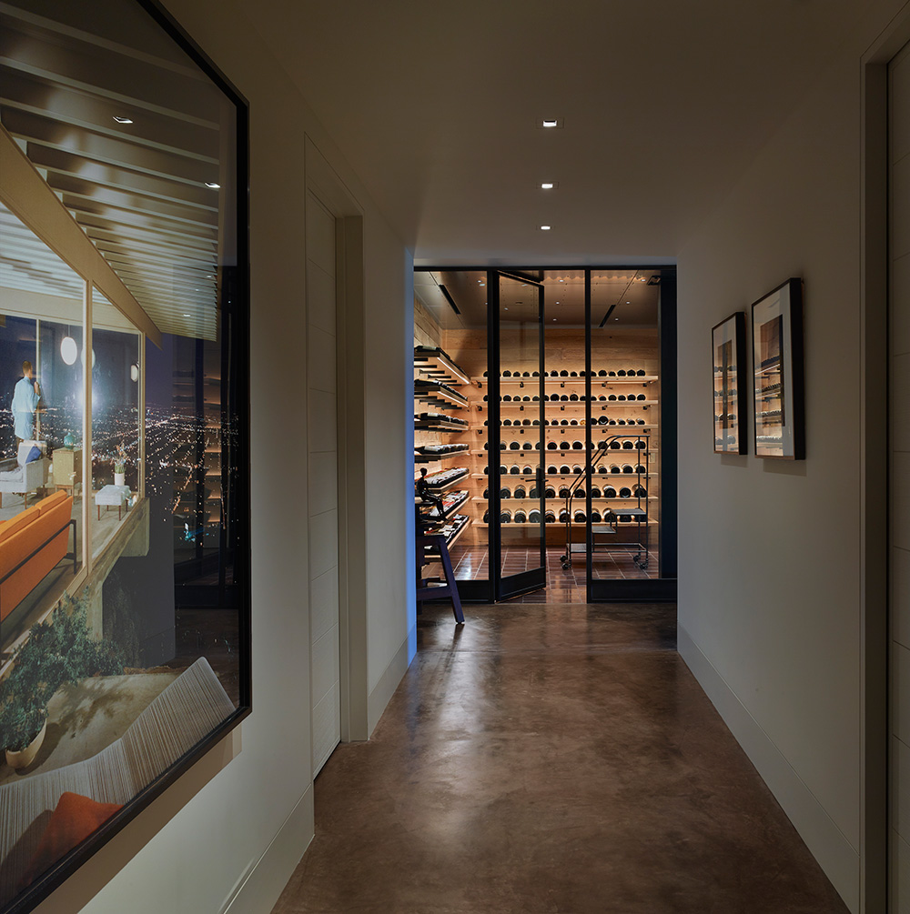 Stunning view of a gorgeous new wine cellar