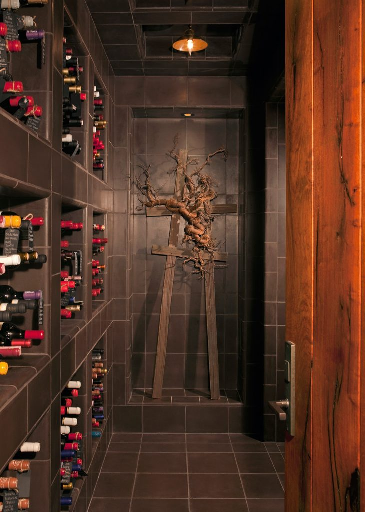 Custom and elegant wine room