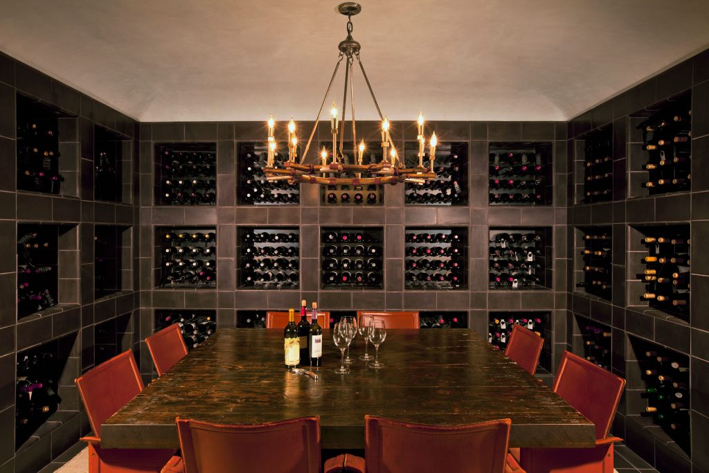 Gorgeous example of a custom wine room