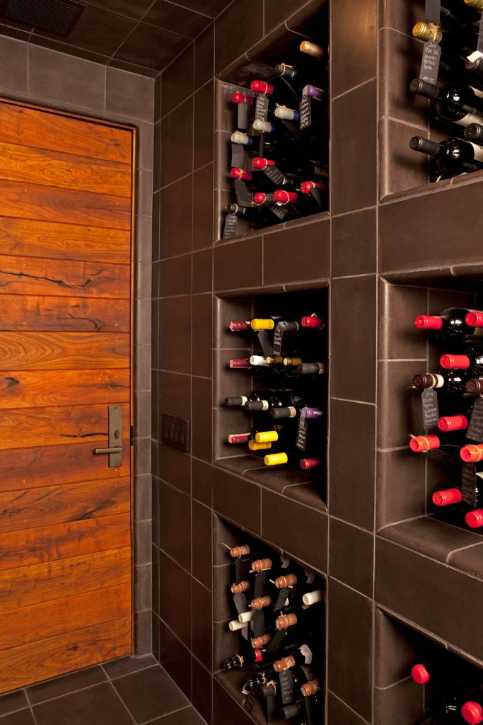 Custom wine room design by Paul Davis Architects