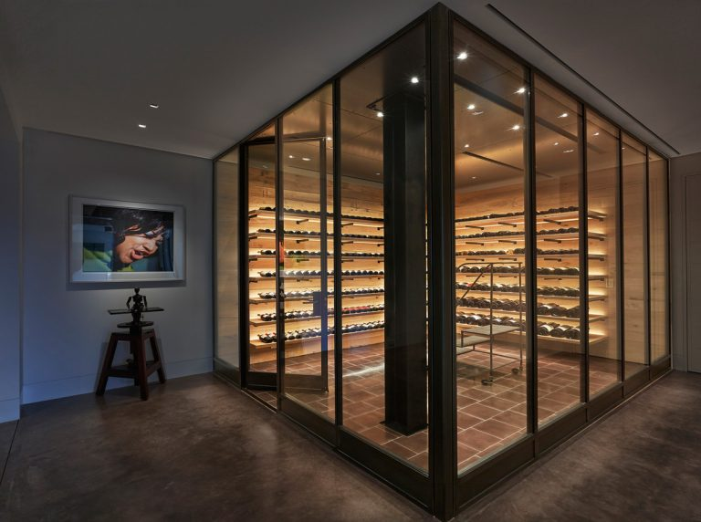 Stunning and distinguished wine cellar design