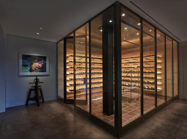 Stunning and distinguished wine cellar design