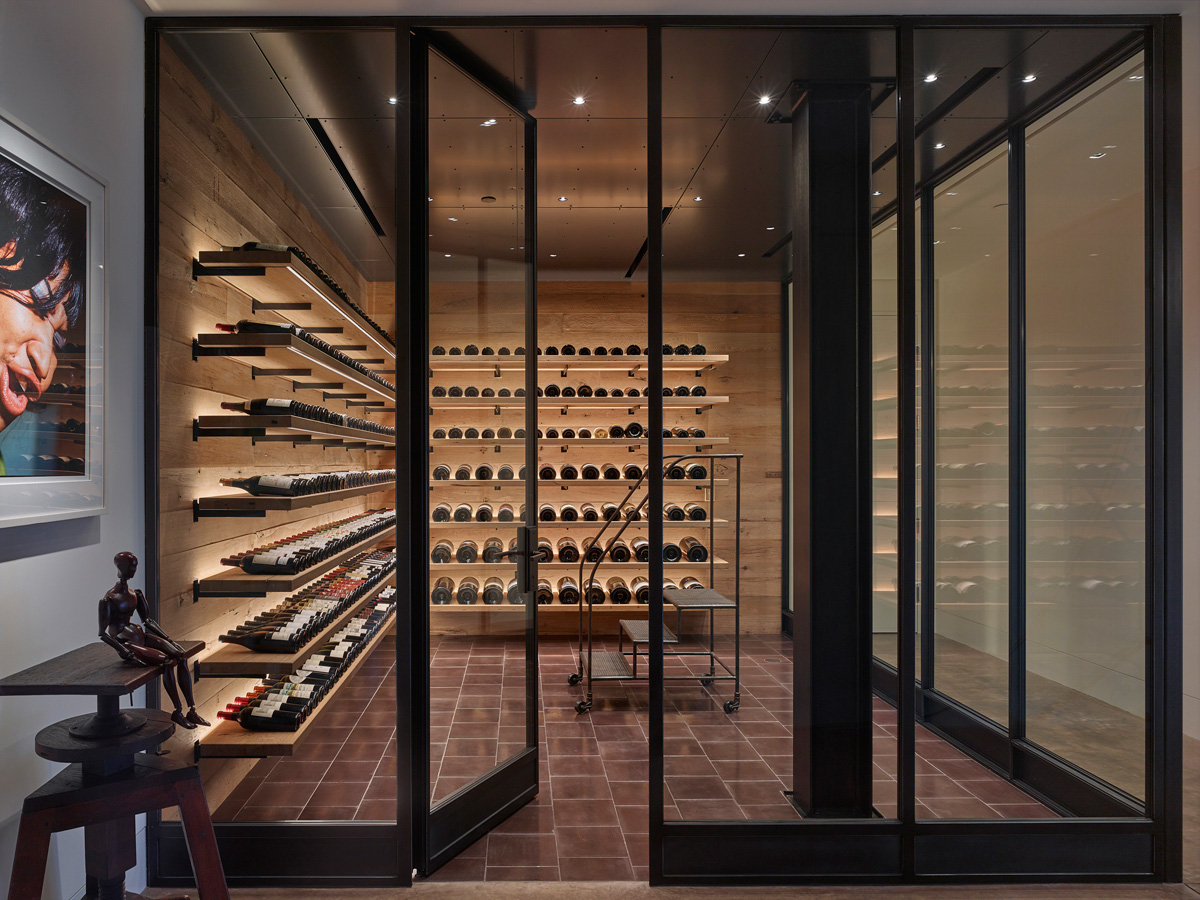 Gorgeous customized wine cellar
